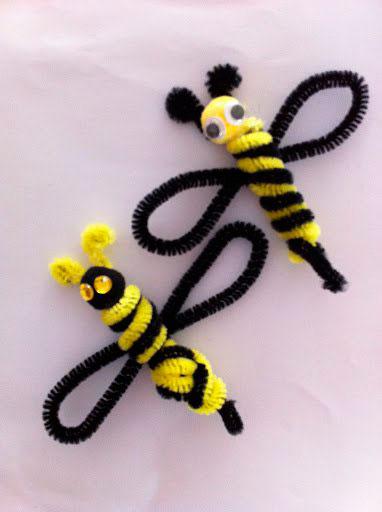поделки пчелы из пушистой проволоки