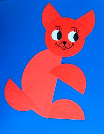 детская аппликация из кружков для детей от 3 до 4 лет