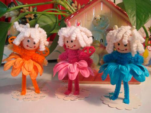 куклы из пушистой проволоки