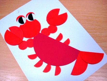 детская аппликация из кружков для детей от 4 до 5 лет