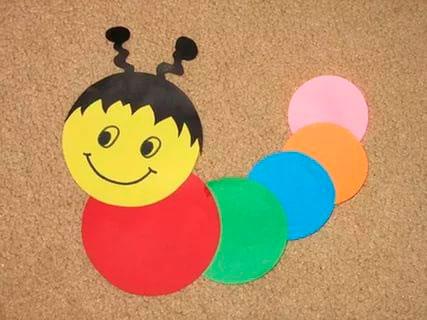 аппликация из кружков для малышей от 1 года