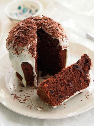 шоколадный кулич с какао
