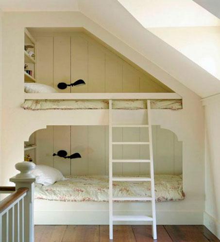 мебель для детской мансардной комнаты для двух детей