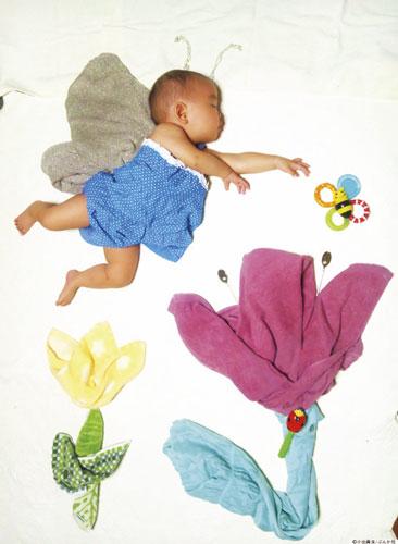 идеи для фотосессии новорожденных: полет во сне
