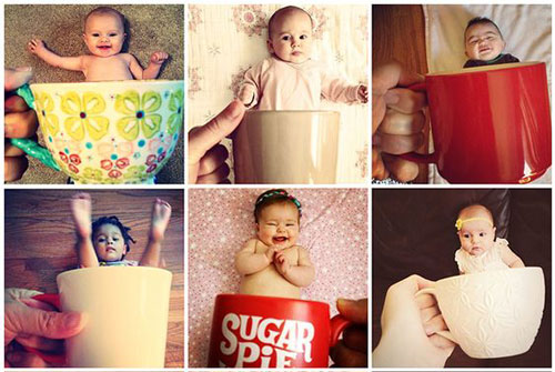 идеи для фото малышей в кружках