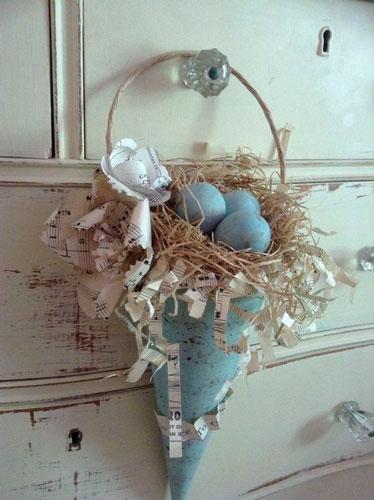 пасхальные венки для украшения дома 4