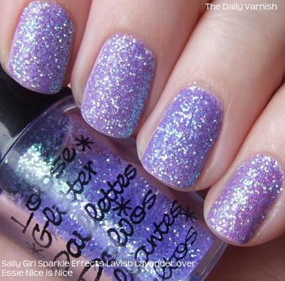 полное покрытие ногтей блестками 4