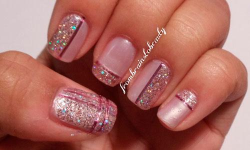 необычное покрытие ногтей блестками