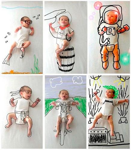 идеи для фотосессии новорожденных 8