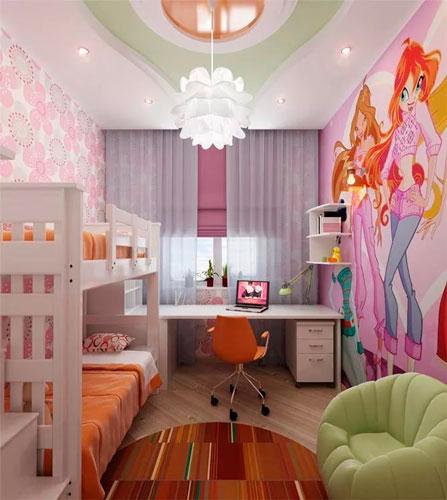 дизайн детской комнаты для девочек 5