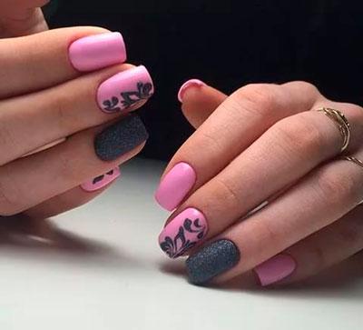 Маникюр с двумя цветами лака