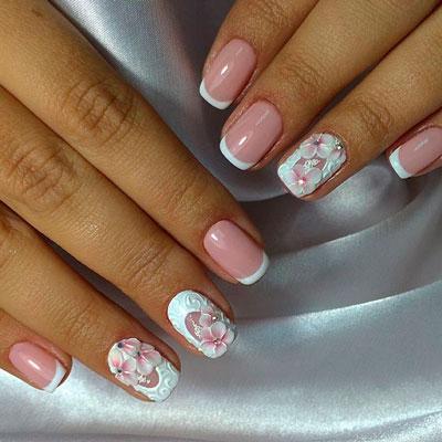 цветы на ногтях 6