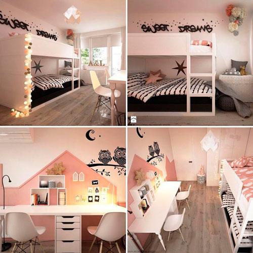 Детские комнаты для двух девочек 12
