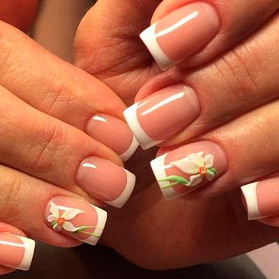 цветы на ногтях 3