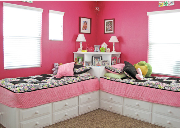 дизайн детской комнаты для девочек 7