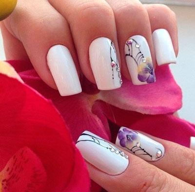 цветы на ногтях 4