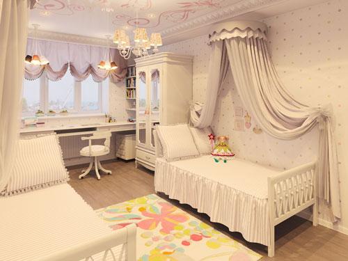 комната для двух девочек фото 8