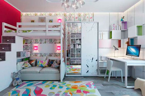 дизайн комнаты для девочек
