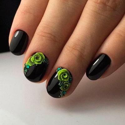 цветы на ногтях 9