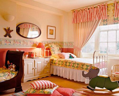 интерьер детской комнаты в оранжевом цвете