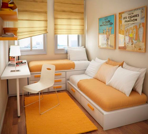 Оранжевый цвет в интерьере детской комнаты 6
