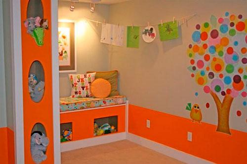 детская комната в оранжевом цвете 8