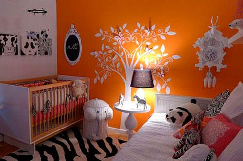детская комната в оранжевом цвете 4