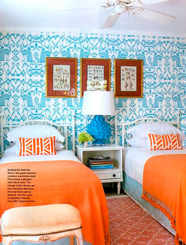 оранжевая детская комната 9