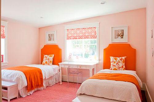 оранжевая детская комната 2