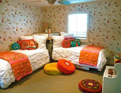оранжевая детская комната 6
