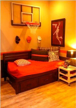 оранжевая детская комната 1