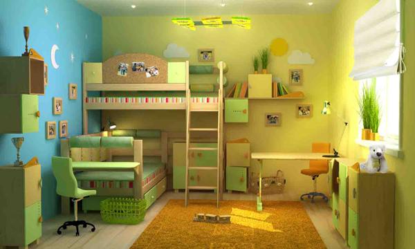 Дизайн детской комнаты для 2 мальчиков: разграничение пространства