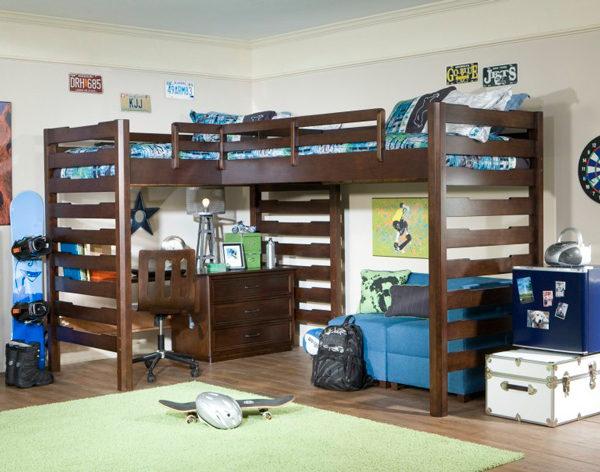 детская для мальчиков с двумя двухэтажными кроватями