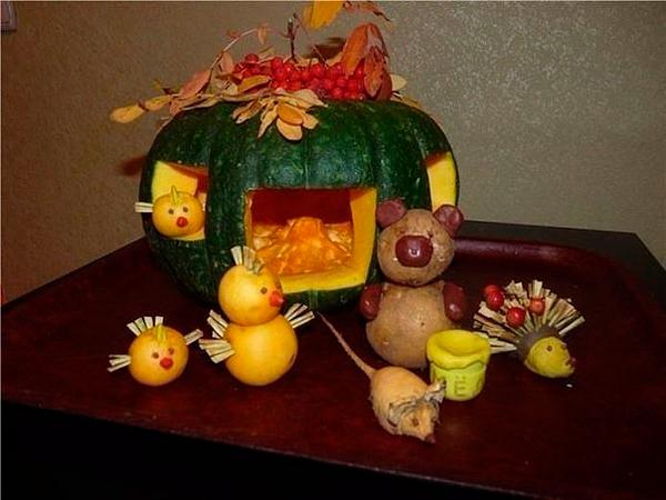 поделки из овощей для детского сада и школы на осенний конкурс 4