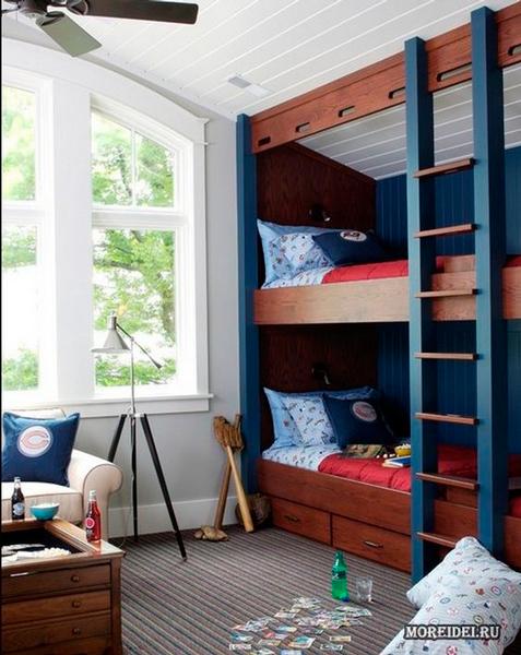 дизайн комнаты для двух мальчиков 9