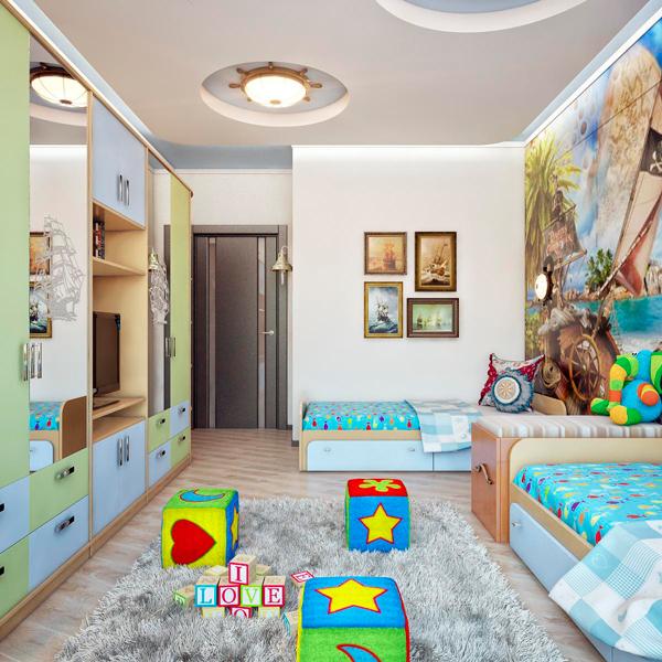 Дизайн детской комнаты для малышей