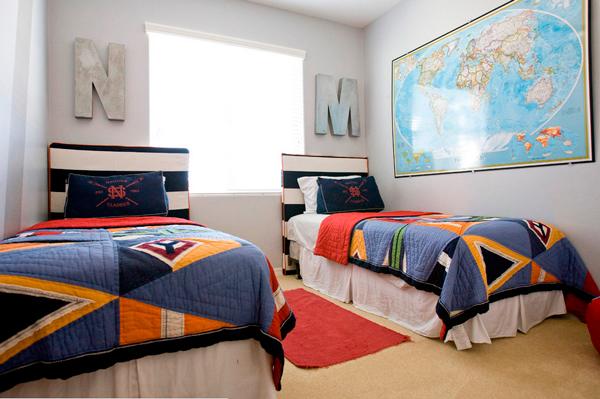 детская с двумя кроватями для мальчиков