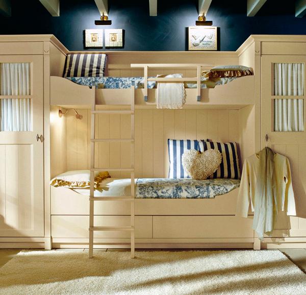 Дизайн детской комнаты для 2 мальчиков: шкафы