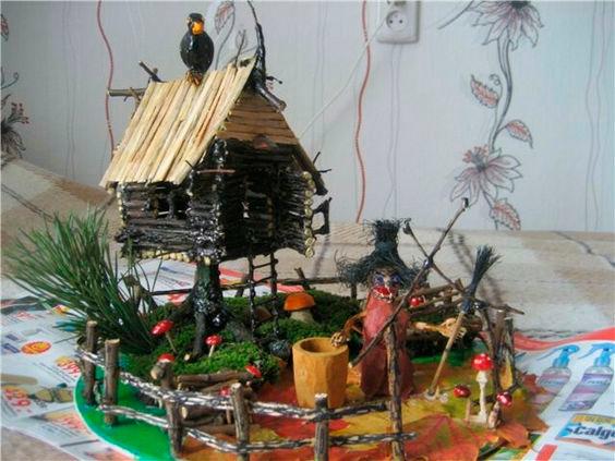 """сказочный домик: поделка на тему """"осень"""" 3"""