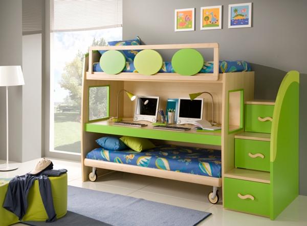 Дизайн детской комнаты для 2 мальчиков: кровать трансформер