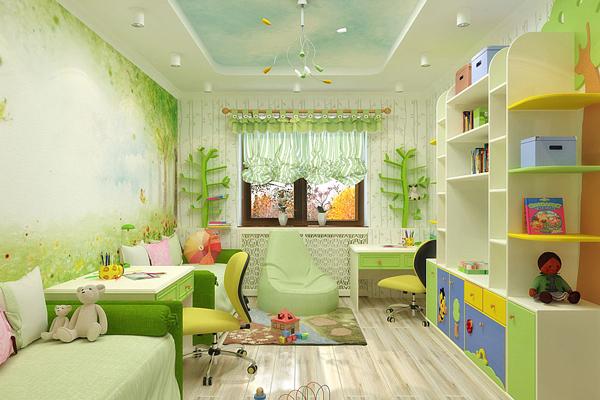 яркая детская комната для двух мальчиков