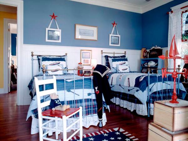 дизайн комнаты для двух мальчиков 7