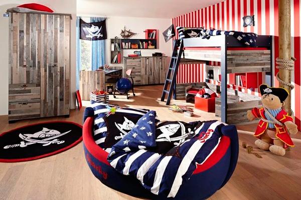 """Дизайн детской комнаты для 2 мальчиков: игровая зона """"пираты"""""""