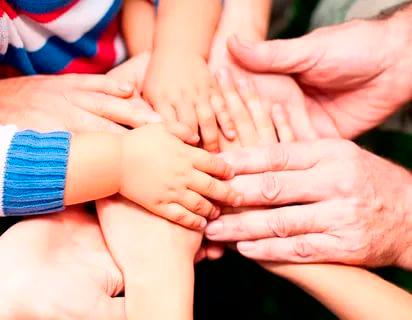 family handshake