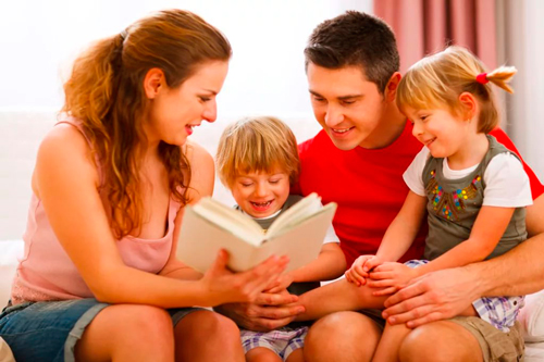 family tradition: reading books together