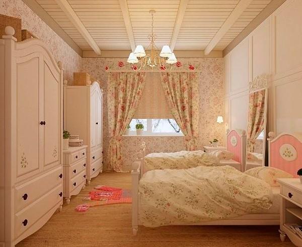 красивый интерьер в стиле прованс для двух детей 4