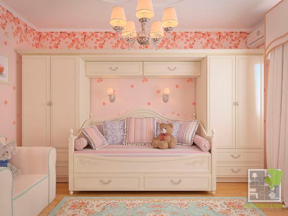 в какие цвета оформить детскую комнату стиля Прованс