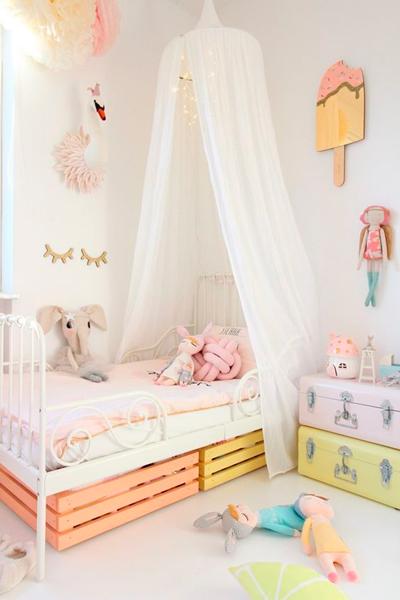 нежная розовая комната в стиле Прованс 2