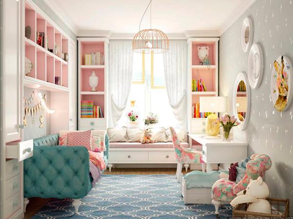 вариант отделки детской комнаты в стиле Прованс
