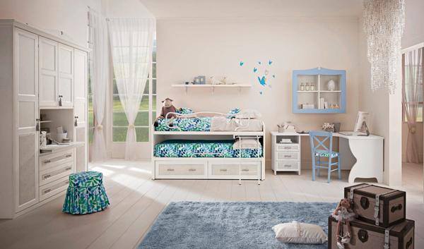 красивый интерьер в стиле прованс для двух детей 6